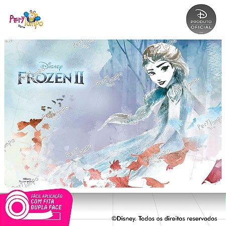 Painel Festa Decorativo Frozen 2 - Elsa Folhas -1,45m x1,00m