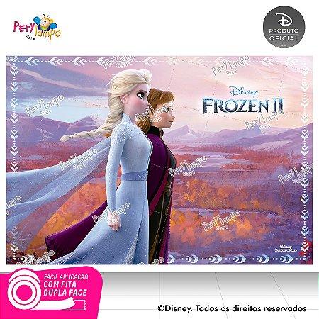 Painel De Festa Decorativo Frozen 2 - Reino - 1,45m x 1,00m