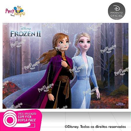 Painel Festa Decorativo Frozen 2 - Floresta - 1,45m x 1,00m
