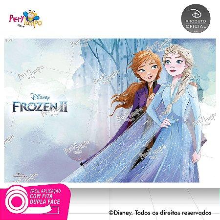 Painel Festa Decorativo Frozen 2 - Aquarela 2 - 1,45m x1,00m