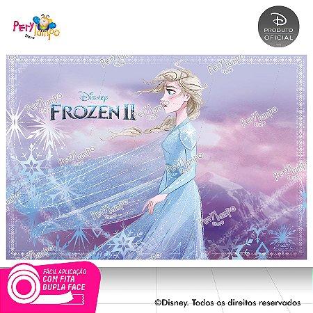 Painel Decorativo Frozen 2 - Aquarela Elsa - 1,45m x 1,00m