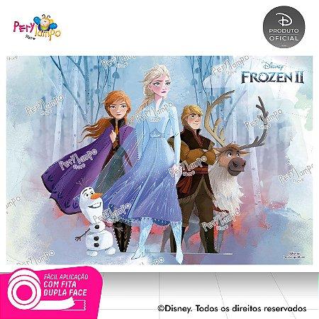Painel De Festa Decorativo Frozen 2 - Turma 1- 1,45m x 1,00m