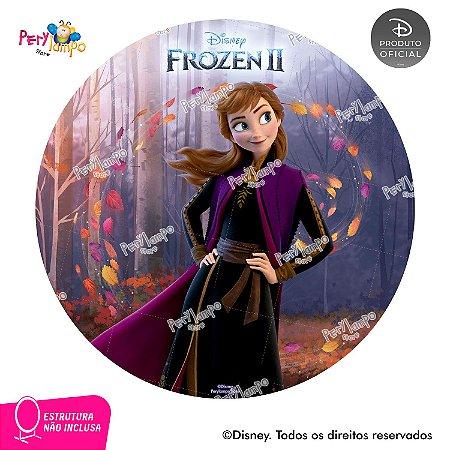 Painel Decorativo Redondo - Frozen 2- Anna Sensações - 1,45D