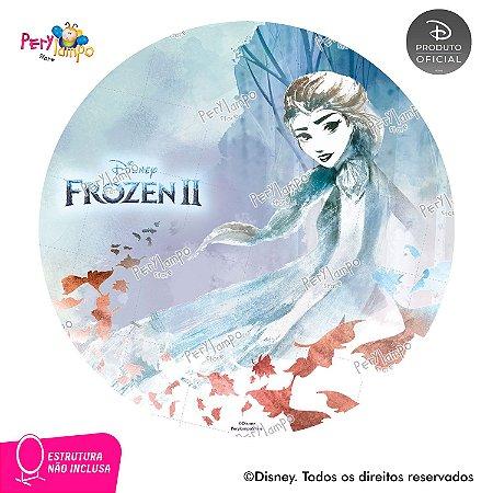 Painel Decorativo Redondo - Frozen 2 - Elsa Folhas - 1,45D