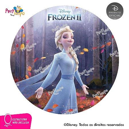 Painel Decorativo Redondo - Frozen 2 - Elsa Sensações- 1,45D