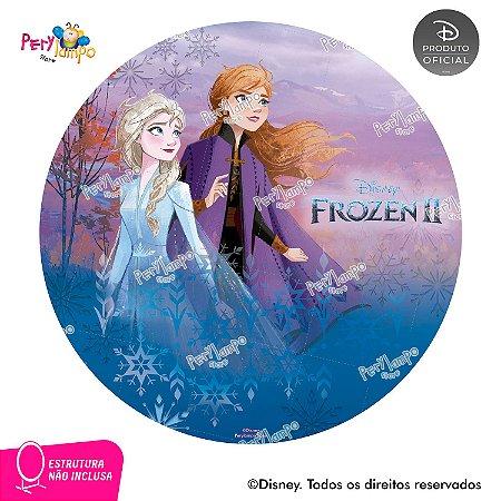 Painel Decorativo Redondo - Frozen 2  Aquarela 1 - 1,45D