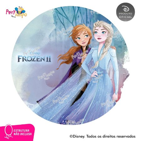 Painel Decorativo Redondo - Frozen 2 - Aquarela 2 - 1,45D