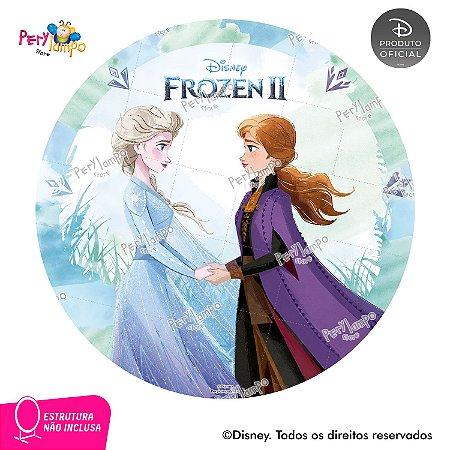 Painel Decorativo Redondo - Frozen 2 - Aquarela 3 - 1,45D
