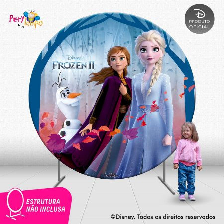 Painel Decorativo Redondo - Frozen 2 - Empoderadas 1 - 2,10D