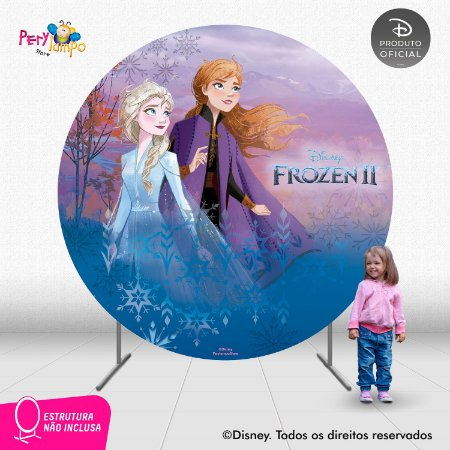 Painel Decorativo Redondo - Frozen 2 - Aquarela 1 - 2,10D