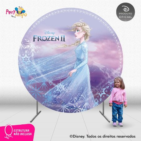 Painel Decorativo Redondo - Frozen 2 - Aquarela Elsa - 2,10D