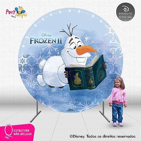 Painel Decorativo Redondo - Frozen 2 - Olaf Livro - 2,10D