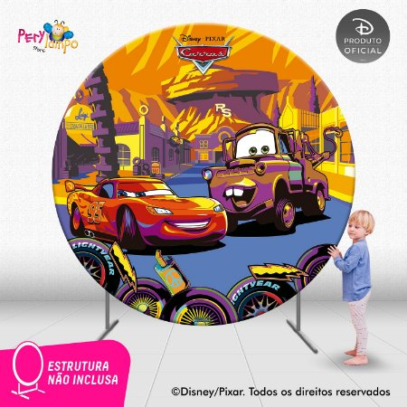 Painel de festa decorativo Redondo - Carros - Deserto -2,10D