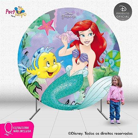 Painel Decorativo Redondo - Pequena Sereia - Ariel Aq -2,10D