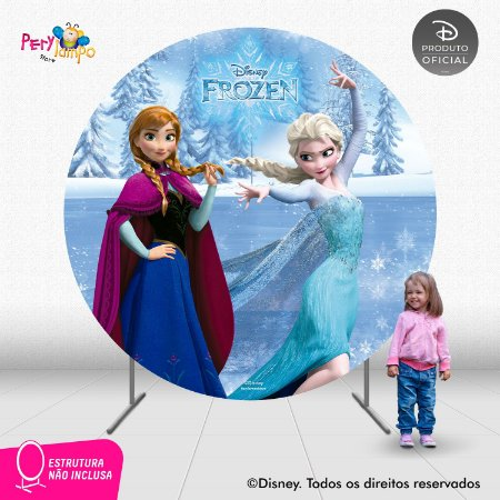 Painel festa Decorativo Redondo - Frozen Clássico - 2,10D