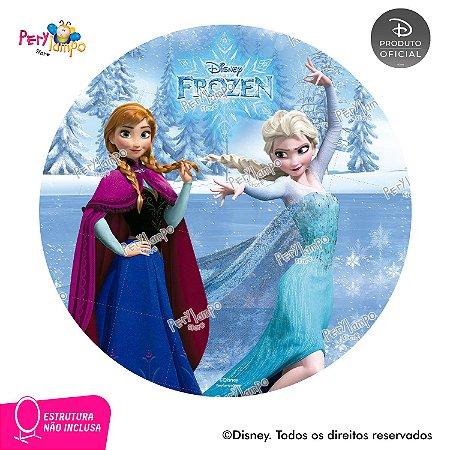 Painel festa Decorativo Redondo - Frozen Clássico - 1,45D