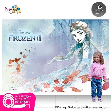 Painel festa decorativo Frozen 2 - Elsa Folhas - 2,20mx1,45m