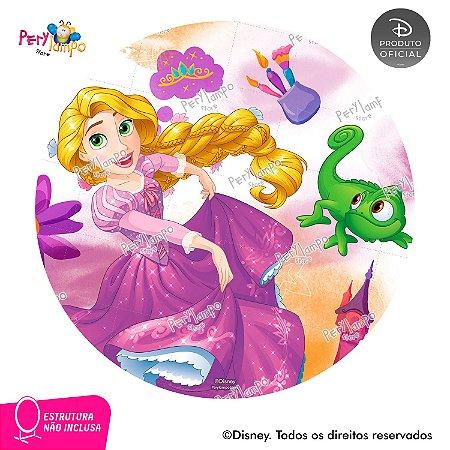Painel Decorativo Redondo -Enrolados-Rapunzel Aquarela-2,10D
