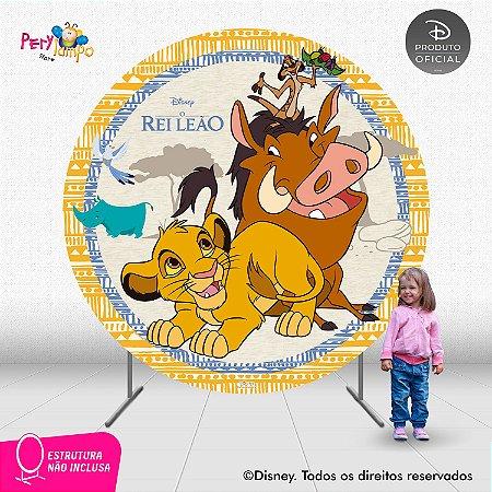 Painel Decorativo Redondo O Rei Leão Timão e Pumba - 2,10D