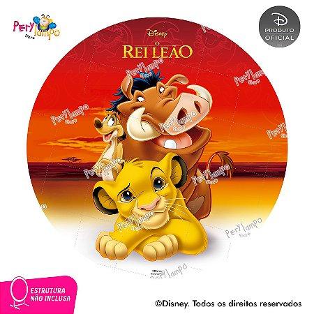 Painel Decorativo Redondo - O Rei Leão Clássico - 1,45D