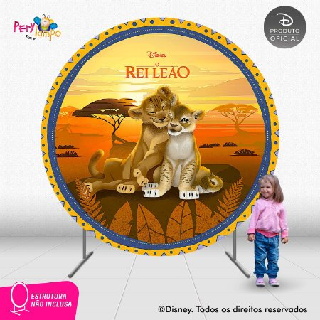 Painel festa Decorativo Redondo - O Rei Leão Floresta - 2,10D