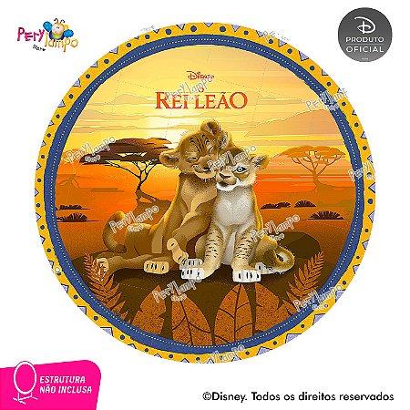 Painel Decorativo Redondo - O Rei Leão Floresta - 1,45D