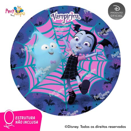 Painel de festa Decorativo Redondo - Vampirina Morcego-1,45D