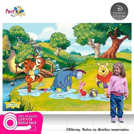 Painel de festa Decorativo - Pooh Riacho - 2,20 x 1,45m