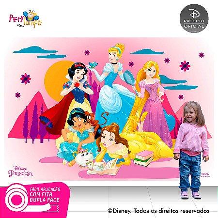 Painel de festa Decorativo Princesas Desenho - 2,20 x 1,45m