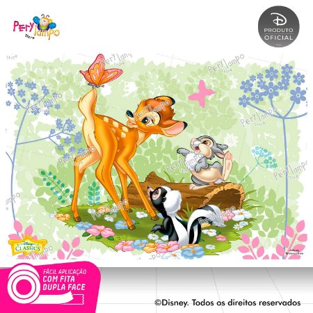 Painel Festa Decorativo Bambi 1,45m X 1,00m