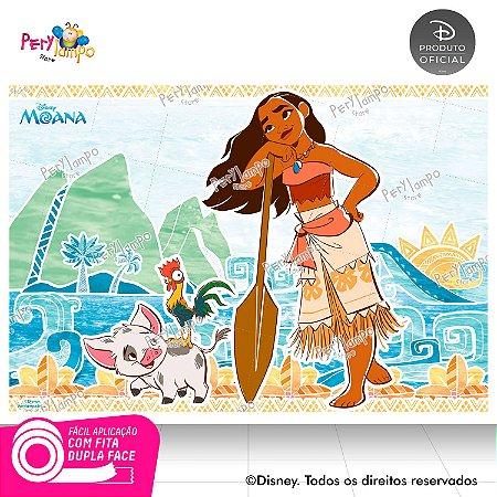 Painel Festa Decorativo Moana 1,45m X 1,00m