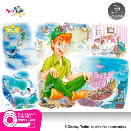 Painel Festa Decorativo Peter Pan 1,45m X 1,00m
