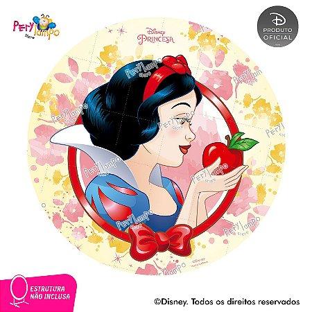 Painel Decorativo Redondo - Branca de Neve- Aquarela - 1,45D