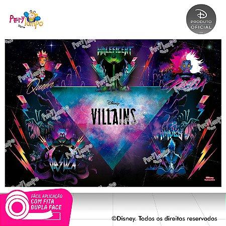 Painel de festa Decorativo -Vilões da Disney - 1,45m x 1,00m
