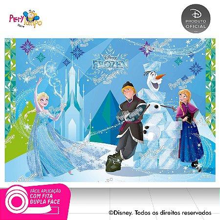 Painel festa Decorativo Frozen Blocos de Gelo - 1,45mx1,00m