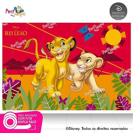 Painel festa Decorativo O Rei Leão Simba e Nala 1,45m x1,00m
