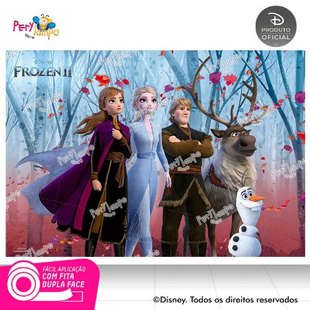 Painel De Festa Decorativo Frozen 2 - Turma 2 - 1,45mx1,00m