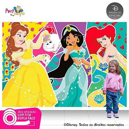 Painel Princesas Disney - Atitudes que brilham -2,20x1,45m