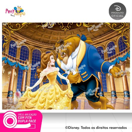 Painel festa Decorativo A Bela e a Fera - Baile - 1,45x1,00m
