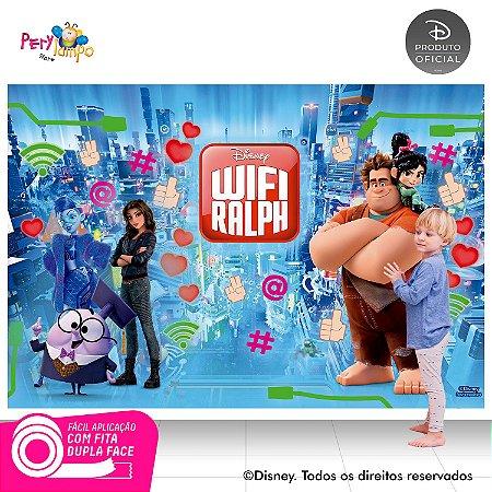 Painel de festa Decorativo - Wi-Fi Ralph - 2,20 x 1,45m