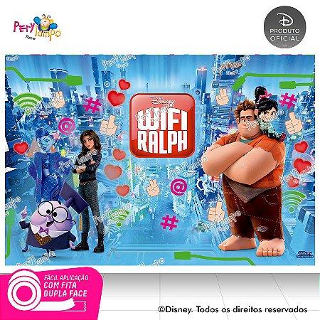 Painel de festa Decorativo - Wi-Fi Ralph - 1,45 x 1,00m