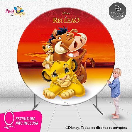 Painel festa Decorativo Redondo O Rei Leão Clássico 2- 2,10D
