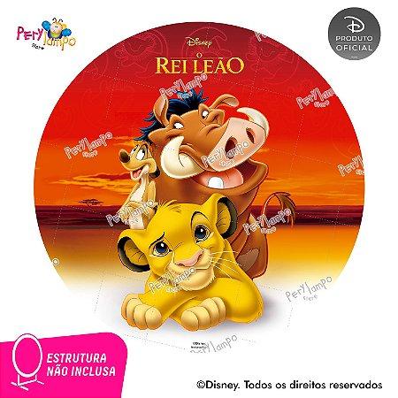 Painel festa Decorativo Redondo O Rei Leão Clássico 2- 1,45D