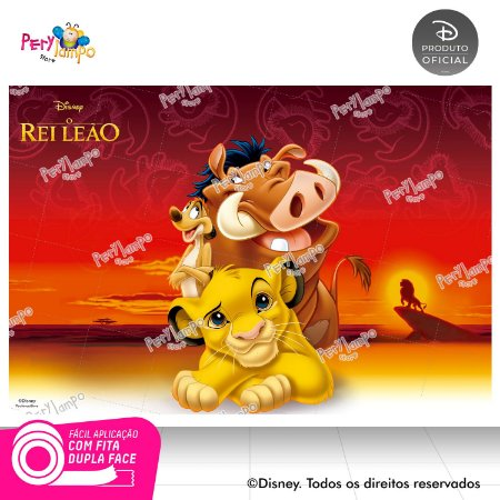 Painel festa Decorativo O Rei Leão Clássico 2- 1,45 x 1,00m