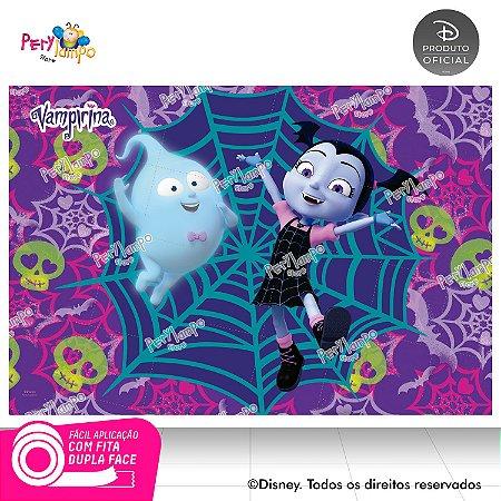 Painel de festa Decorativo - Vampirina Caveira- 1,45m x1,00m