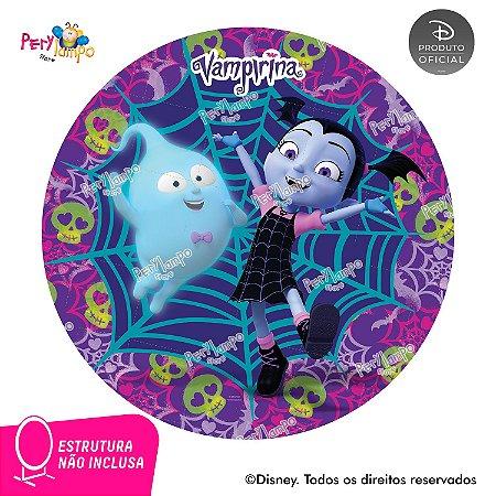 Painel de festa Decorativo Redondo - Vampirina Caveira-1,45D