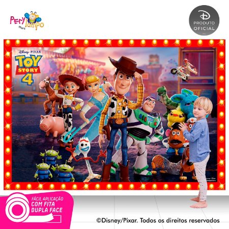 Painel festa Decorativo Toy Story 4 - Frames - 2,20 x 1,45m