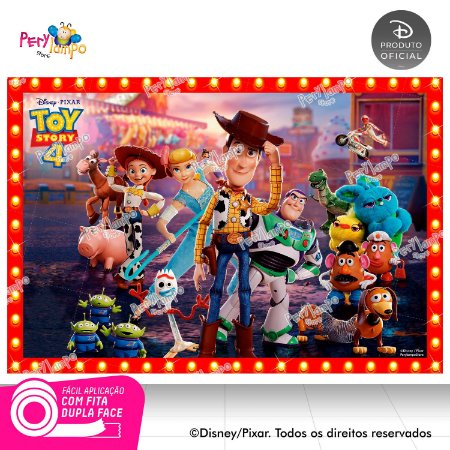 Painel festa Decorativo Toy Story 4 - Frames - 1,45 x 1,00m