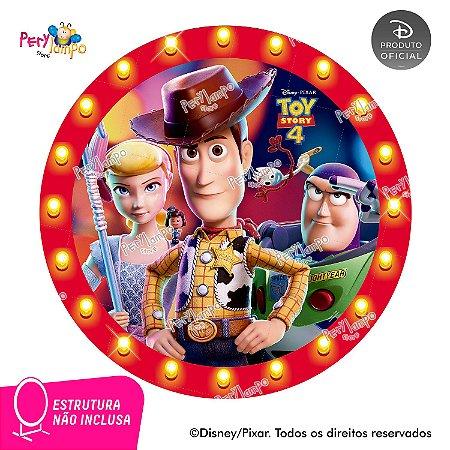 Painel festa Decorativo Redondo Toy Story 4 - Frames - 1,45D