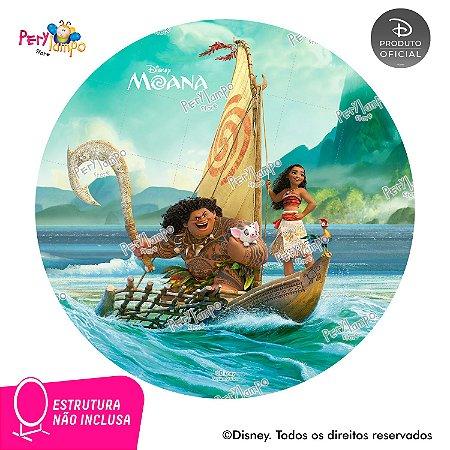Painel Festa Decorativo Redondo Moana - Barco Maui - 1,45D